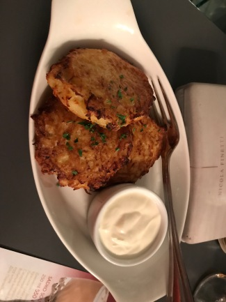 Potato pancakes - we got three each - I had eaten one before I remembered to take the photo