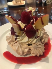 'Pavlova' although it was more a meringue dish - but it was really tasty