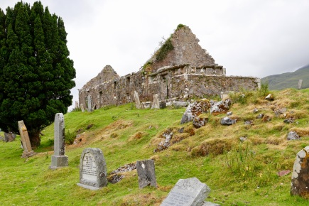 Cill Chriosd with the graveyard in the foreground