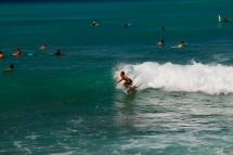 Catching a wave at Waikiki
