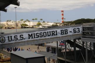 On board the Missouri