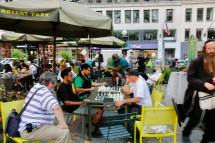 Bryant Park - playing chess