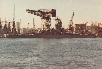The Missouri in Sydney in 1986