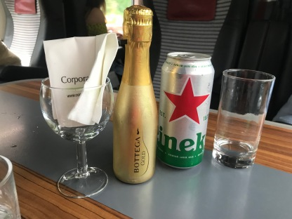 Beer and Prosecco to enjoy on the journey