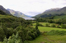 Glenfinnan Viaduct looking out from the train