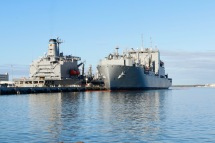 Ships at the naval dockyards