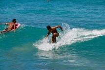 Catching a wave at Waikiki