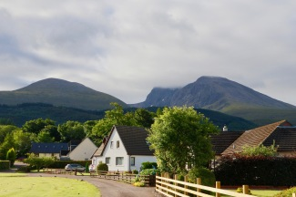 The view from our B and B of Ben Nevis