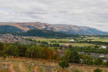 The view from Stirling Castle