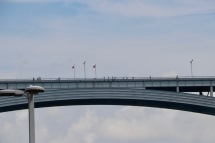Peace Bridge - border between USA and Canada