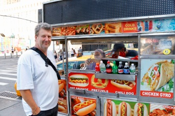 Phil at the hot dog stand