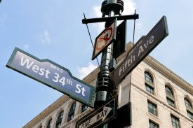 Fifth Avenue signs