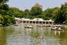 The boat shed in Central Park