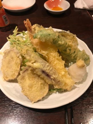 Tempura fish and vegetables