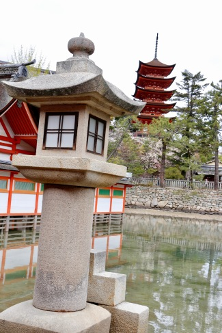 Itsukushima Shrine and five storied pagoda, Miyajima Island, Japan