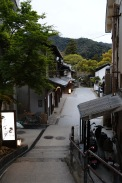 Streets at dusk on Miyajima Island, Japan