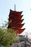 Five storied pagoda, Miyajima Island, Japan