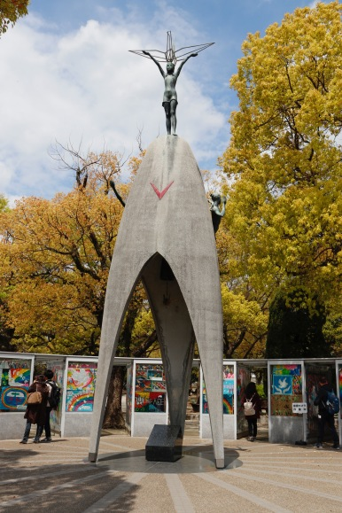 Children's Peace Monument in the sunshine, Hiroshima
