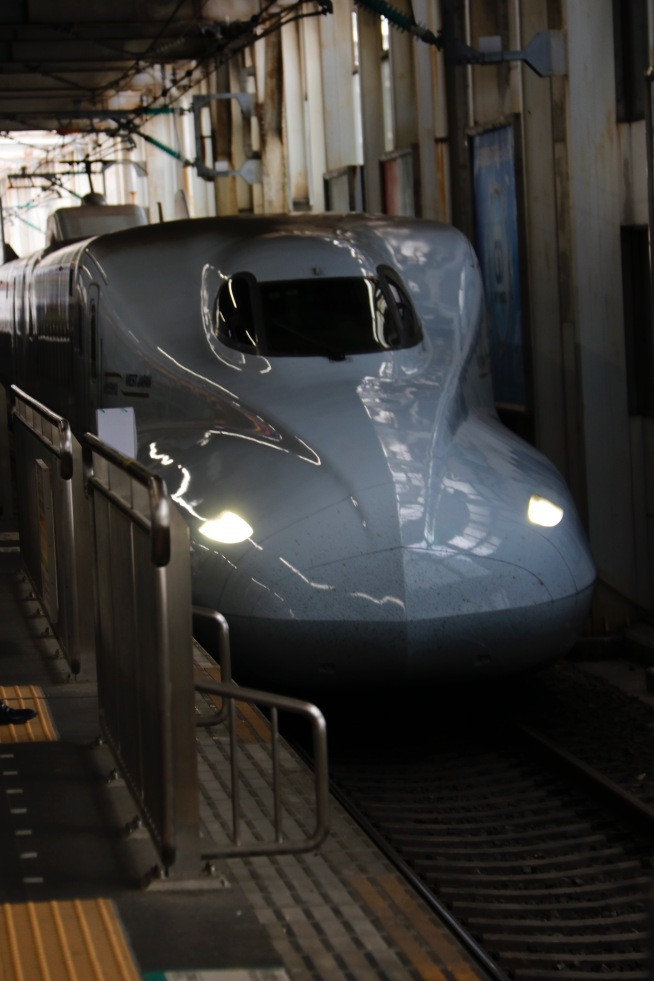 Our Shinkansen (bullet train) from Hiroshima to Osaka