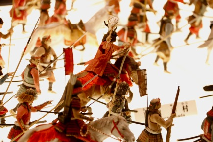 Model of a battle inside Osaka Castle, Osaka
