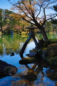 Experimenting with som effects in camera - Kenrokuen Garden, Kanazawa Castle Park, Kanazawa, Japan