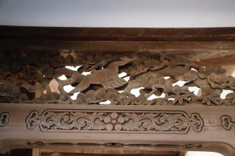 Detail of woodwork - Oyama Jinja Shrine, Kanazawa, Japan