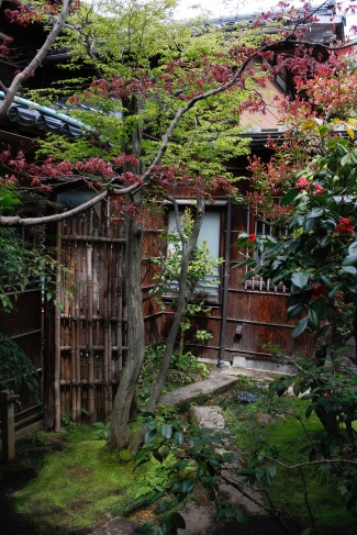 A different view of gardens at Nomura Samurai House, Kanazawa, Japan