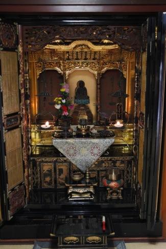 Altar at Nomura Samurai House, Kanazawa, Japan