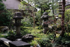 Another view of the garden at Nomura Samurai House, Kanazawa, Japan