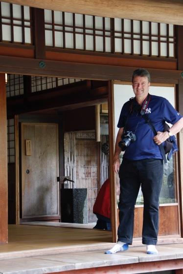 Phil at Nomura Samurai House, Kanazawa, Japan