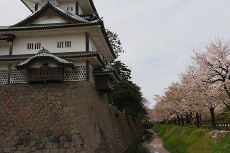 Kanazawa watch tower that isn't square, Kanazawa Castle, Kanazawa, Japan