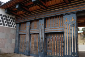 Iron doors, Kanazawa, Japan