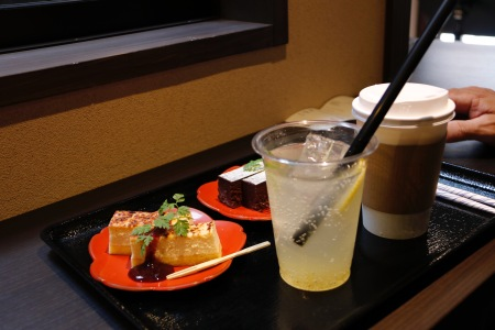 Refreshments in Higashi-Kazue-machi Chaya District, Kanazawa, Japan
